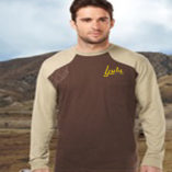 Tri Mountain Shooting T-Shirt Long Sleeve Brown