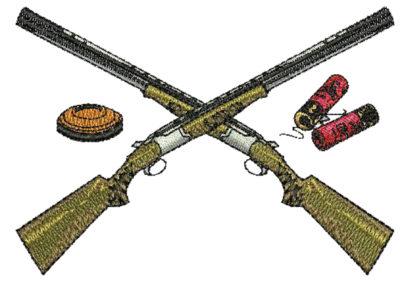 trapshooting gun shells and clay